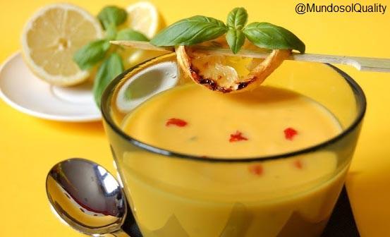 Crema de zanahoria, jengibre y limón