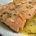 Salmón en salsa de Limón y Azafrán