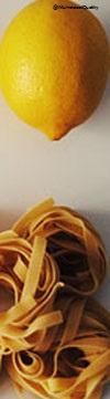 Cintas al limón y parmesano