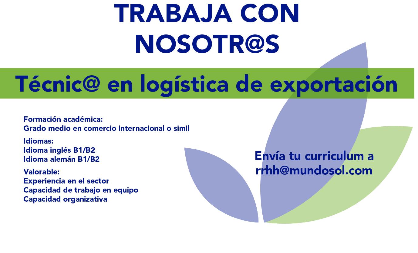 Oferta de empleo: técnico en logística